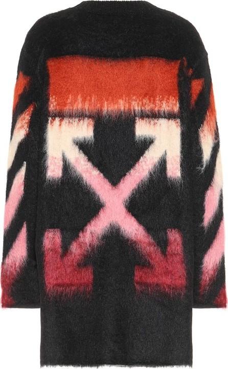 Off White Logo mohair-blend sweater dress