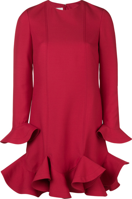Valentino Frilled flared dress