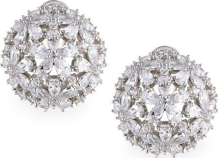 Fallon Monarch Florette Crystal Button Earrings