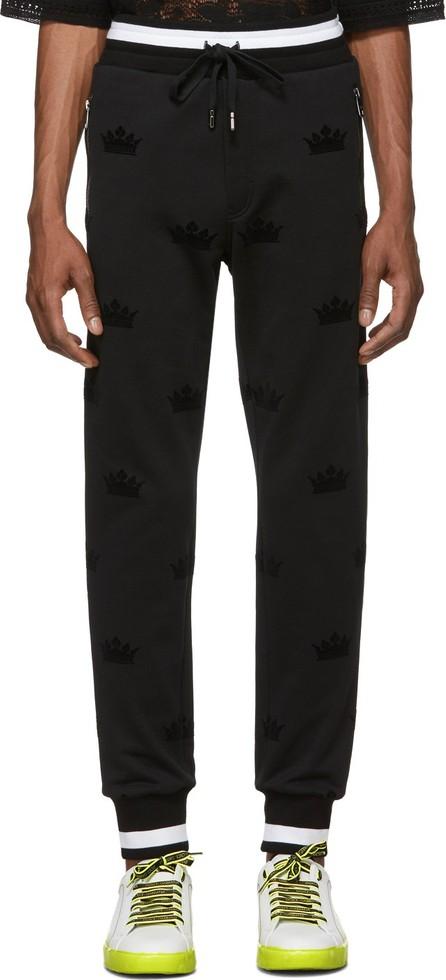 Dolce & Gabbana Black Crowns Lounge Pants