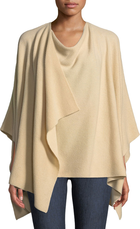 Lafayette 148 New York Cashmere Ribbed Wrap