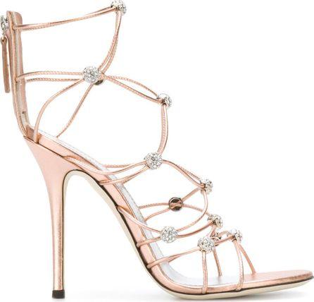 Giuseppe Zanotti Strappy crystal beaded heeled sandals