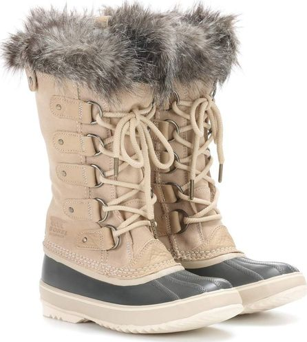 Sorel Joan of Arctic suede and rubber boots