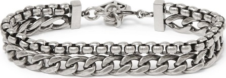 Givenchy Oxidised Silver-Tone Bracelet