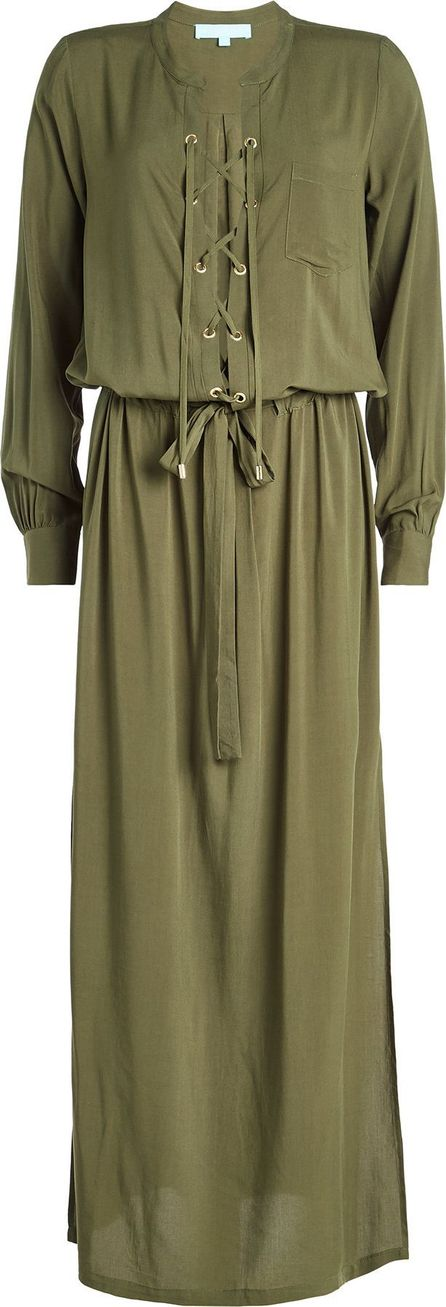 Melissa Odabash Maxi Dress with Lace-Up Front