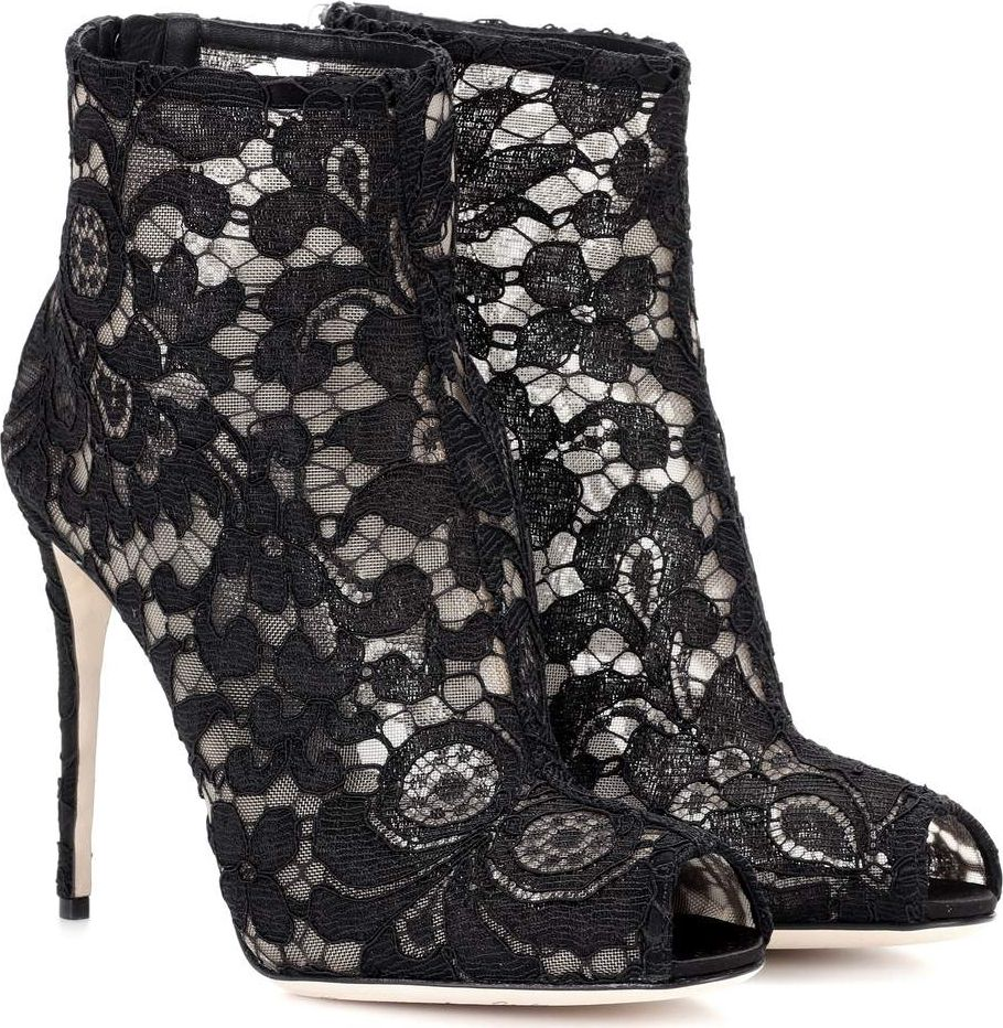 Dolce & Gabbana - Lace ankle boots