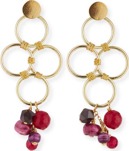 Akola Four-Loop Dangle Earrings
