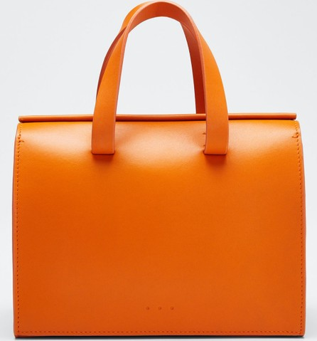Aesther Ekme Leather New Mini Barrel Satchel Bag  Orange