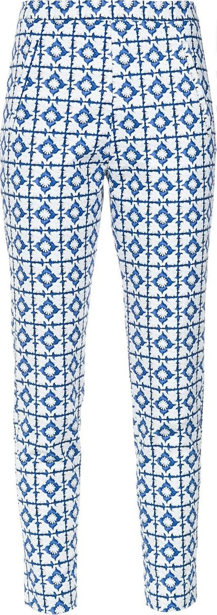 Andrea Marques Tile print skinny trousers