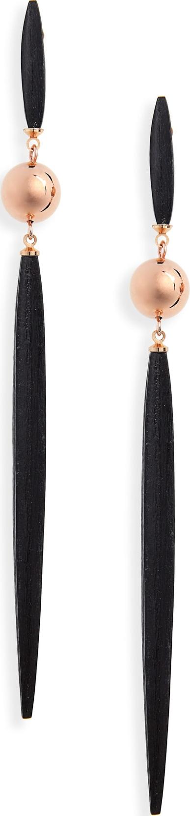 Isabel Marant Woody Linear Drop Earrings