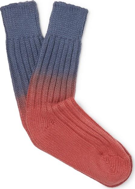 The Elder Statesman Yosemite Dip-Dyed Cashmere Socks