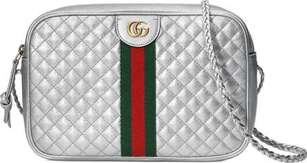 Gucci Trapuntata Small Metallic Camera Bag