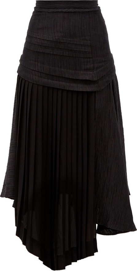 Aje April asymmetric pleated midi skirt