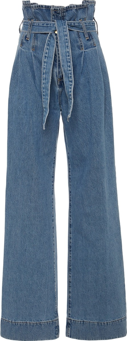 Nobody Denim Galileo Tie-Front High-Rise Wide-Leg Jeans