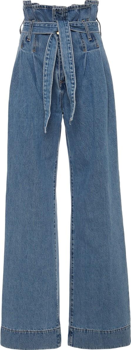 Nobody Denim Galileo Tie-Front High-Rise Wide-Leg Jeans