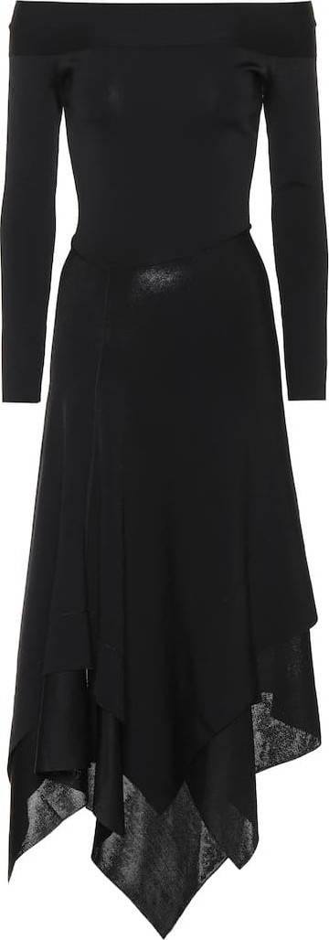 Victoria Beckham Off-the-shoulder stretch dress