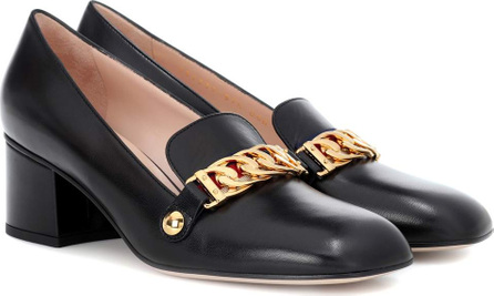 Gucci Sylvie mid-height leather pumps