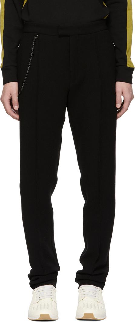 Bottega Veneta Black Compact Bistretch Wool Trousers