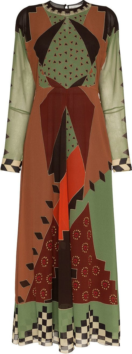 Etro Printed flared silk dress