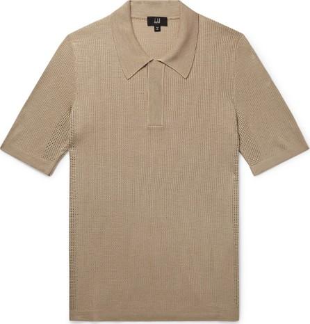 Dunhill Tussah Silk-Mesh Polo Shirt