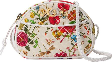 Gucci Trapuntata Floral Mini Crossbody Bag