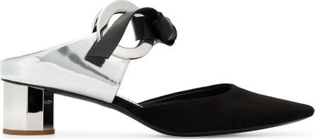Proenza Schouler Black 40 suede mirrored heel mules