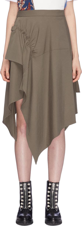 3.1 Phillip Lim Buckled ruched drape handkerchief skirt