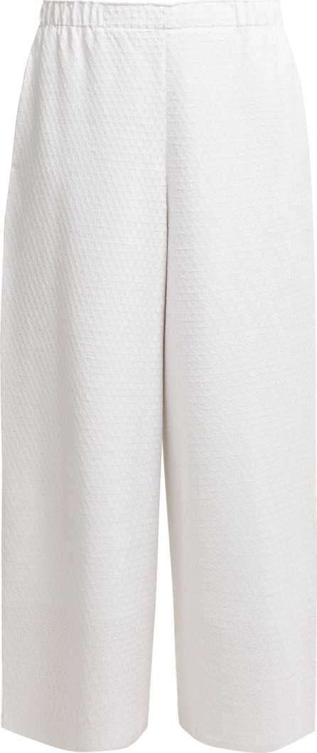 Issey Miyake Gaufre wide-leg pleated cropped trousers