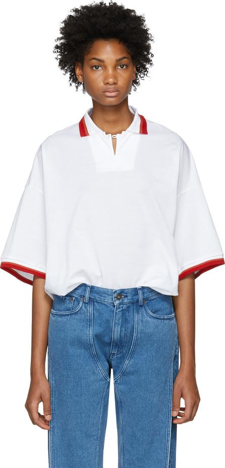 FACETASM White Unisex Polo Shirt
