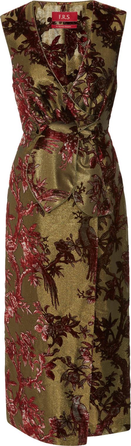 For Restless Sleepers Meti Wrap Lurex Devoré Midi Dress