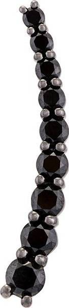 Alinka 'Dasha' black diamond left side large slider earring