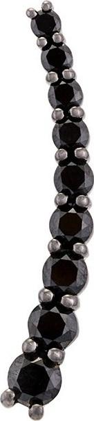Alinka 'Dasha' black diamond left side large slider earring