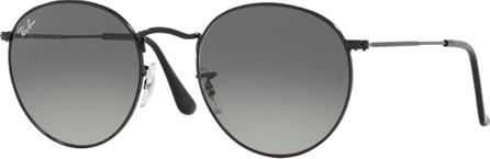 Ray Ban Gradient Round Metal Sunglasses
