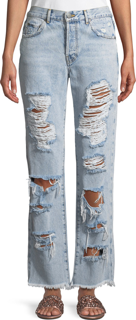 AO.LA Genevive Extreme Distressed Girlfriend Jeans