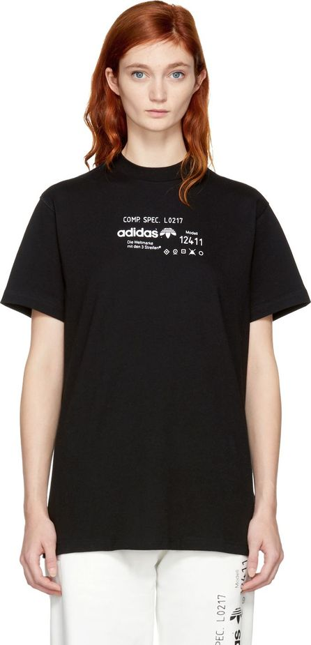 Adidas Originals by Alexander Wang Black Graphic T-Shirt