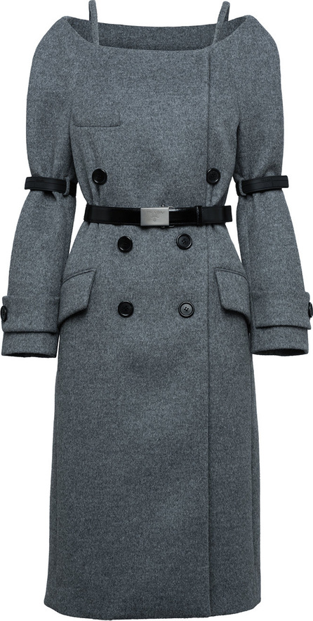 Prada Detachable bands double-breasted coat