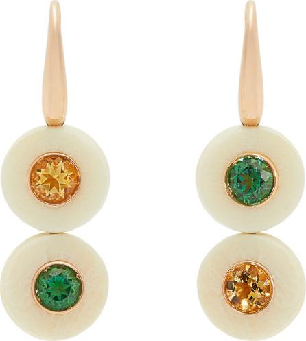Francesca Villa Eclipse yellow & green topaz earrings