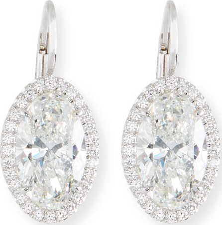 Rahaminov Oval-Cut Diamond Drop Earrings in 18K White Gold