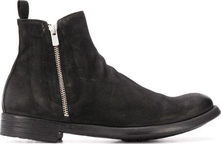 Officine Creative Cracked-effect ankle boots