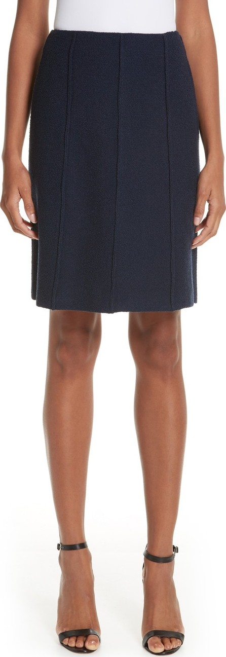 St. John Ana Bouclé Knit A-Line Skirt