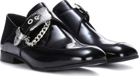 McQ - Alexander McQueen Embellished leather monk shoes