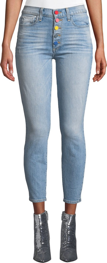 AO.LA by alice + olivia Good High-Rise Exposed Button Skinny Jeans