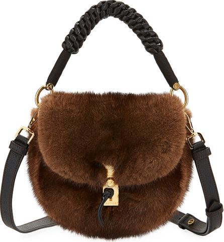 Altuzarra Ghianda Mink Fur Top-Handle Bag
