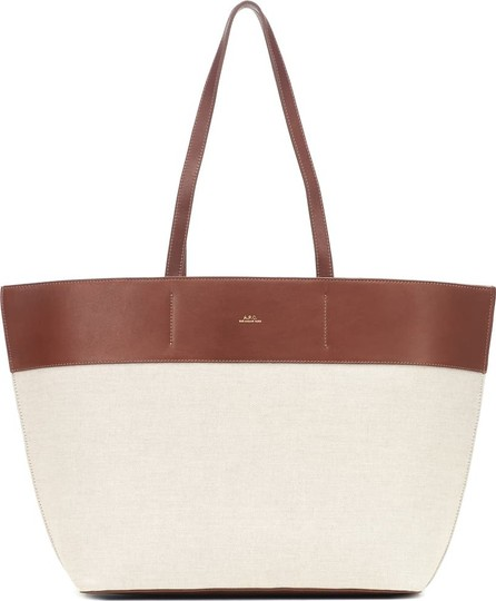 A.P.C. Totally leather-trimmed canvas tote