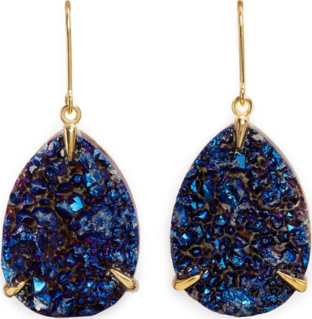 Niin 'Zayah Nocturna' drusy agate earrings
