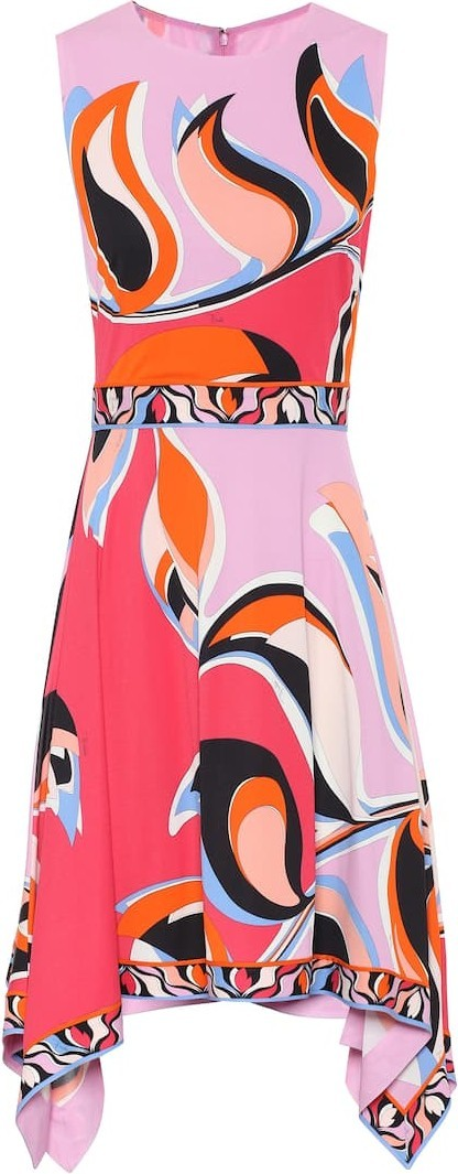Emilio Pucci Printed crêpe dress