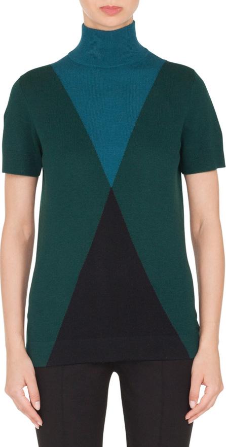 Akris Punto Wool & Cashmere Argyle Sweater