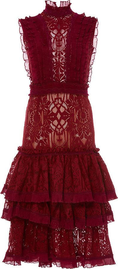 7dc181dbb20 Tower Tiered Ruffle Lace Dress