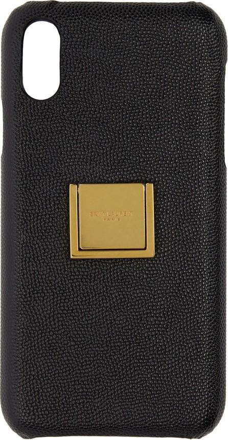 Saint Laurent Black Leather Ring iPhone XR Case
