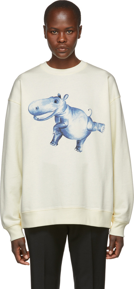 Acne Studios White Hippo Crewneck Sweatshirt